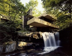 Fallingwater design by Frank Lloyd Wright