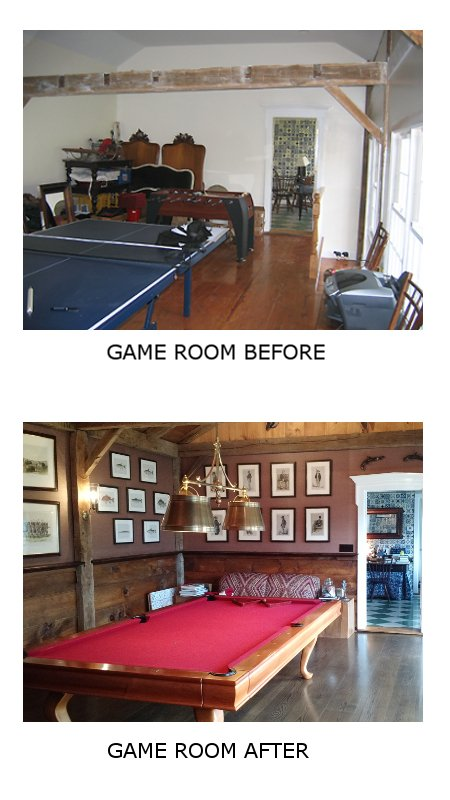 Game Room Before & After