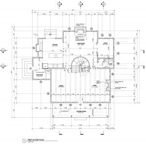 Construction Documents First Floor Plan