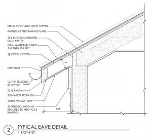 Construction Documents Eave Detail