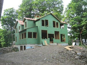Exterior Sheathing Applied View From NE