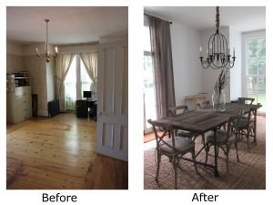 Langdon Gatehouse Dining Room Before and After